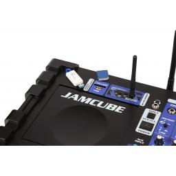 VOCOPRO JAMCUBE & TWIN WIRELESS MIC'S & BLUETOOTH CDG DVD CD USB KARAOKE MACHINE