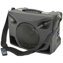QTX DT50 PORTABLE DESKTOP PA SYSTEM + 2 WIRELESS MICROPHONES AND MP3 Player