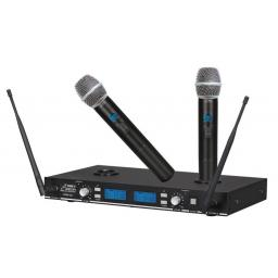 AUDIO2000S AWM6522U - UHF Rechargeable Dual-Channel Wireless System with Adjustable Frequencies