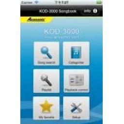 ACESONIC KOD-4000 APPLE & ANDROID HARD DRIVE KARAOKE PLAYER + 2200 KARAOKE TRACKS