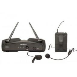 PROEL WM202 UHF WIRELESS HEADSET MICROPHONE SYSTEM