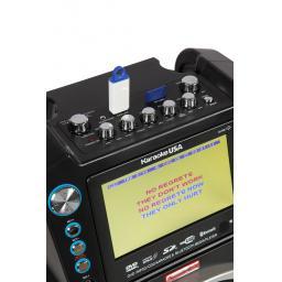 Karaoke GF846 + package includes 400 songs + UHF Twin Radio mic + 2 Cable Microphones