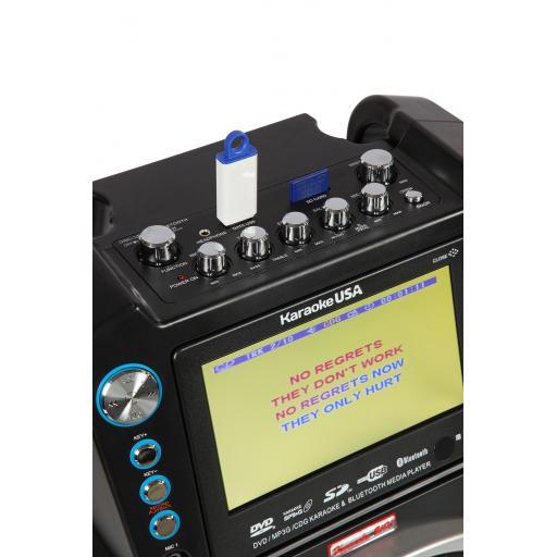 Karaoke GF846 + Pack includes 1000 songs + UHF Twin Radio Mic + 2 Cable Microphones