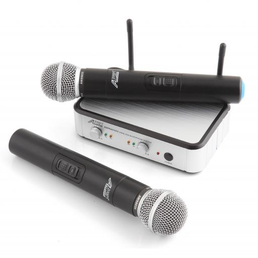 Audio2000s AWM6035U - Twin Mic -Channel UHF Wireless Microphone Systems