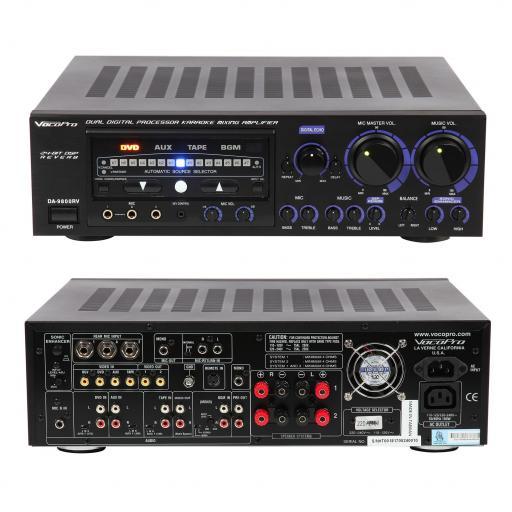 VOCOPRO DA-9800RV 600W KARAOKE KEYCHANGE REVERB/ECHO AMPLIFER