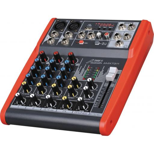 Audio2000s AMX7311- Professional Four-Channel Audio Mixer with USB and DSP Processor