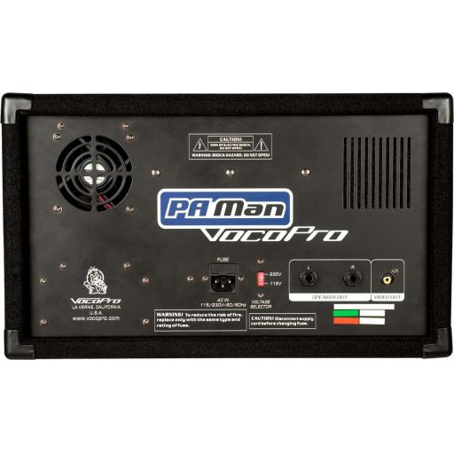 PA-MAN PRO FOUR CHANNEL WIRELESS ALL-IN-ONE KARAOKE AMPLIFIER