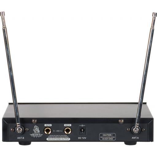 VOCOPRO VHF-3005 DUAL CHANNEL VHF WIRELESS MICROPHONE SYSTEM