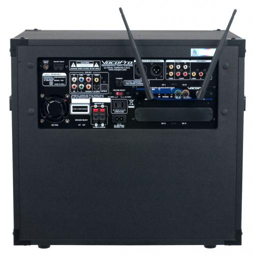 VOCOPRO HERO-REC KARAOKE MACHINE + BUILT IN TWIN UHF WIRELESS MICROPHONES SYSTEM & 200 SONGS