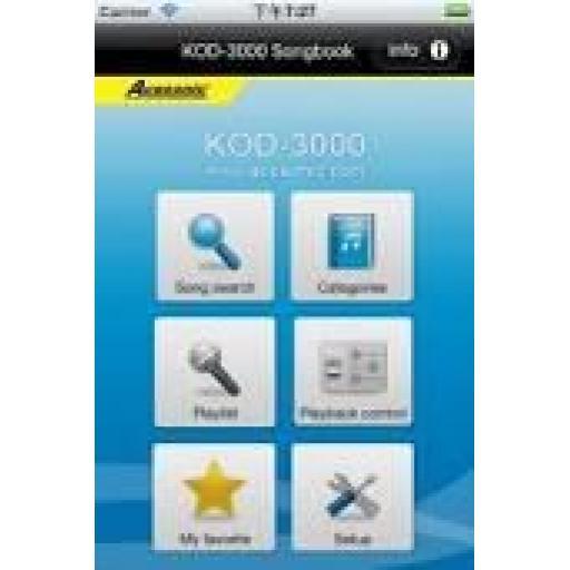ACESONIC KOD-4000 APPLE & ANDROID HARD DRIVE KARAOKE PLAYER + 1000 KARAOKE TRACKS