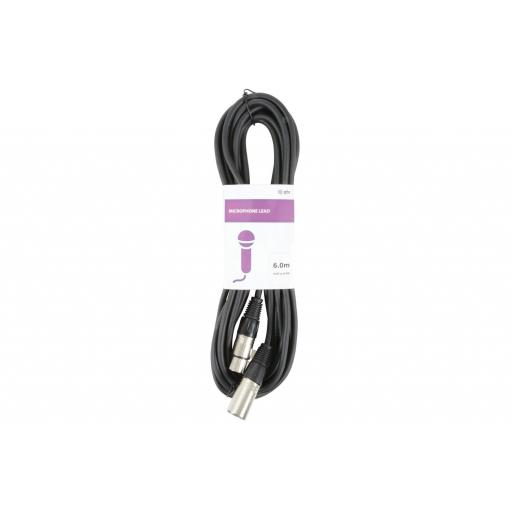 QTX CLASSIC XLR TO XLR LEAD MALE TO FEMALE 6 METERS