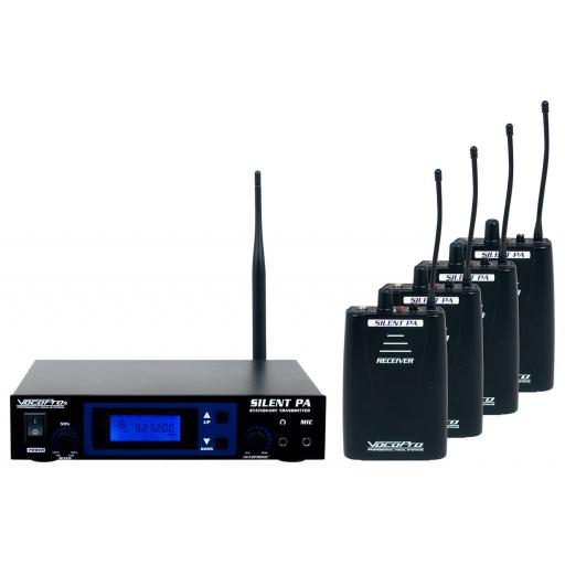 VOCOPRO SilentPA-PRACTICE 16CH UHF Wireless Audio Broadcast System