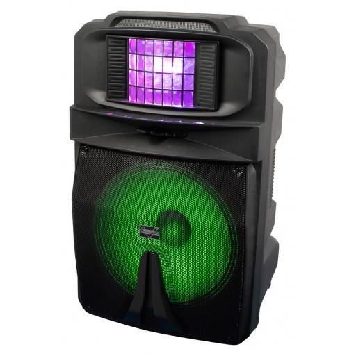 "Vocopro Karaoke-Thunder-1500 (NEW PRODUCT!) 15"" POWERED DJ/KARAOKE PARTY SPEAKER WITH RGB DERBY LIGHT Karaoke-Thunder-1500 15"" POWERED DJ/KARAOKE PARTY SPEAKER WITH RGB DERBY LIGHT"