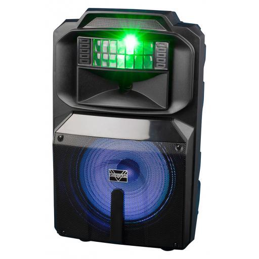 "Vocopro Karoke-Thunder-1200 (NEW PRODUCT!) 12"" POWERED DJ/KARAOKE PARTY SPEAKER WITH RGB DERBY LIGHT"