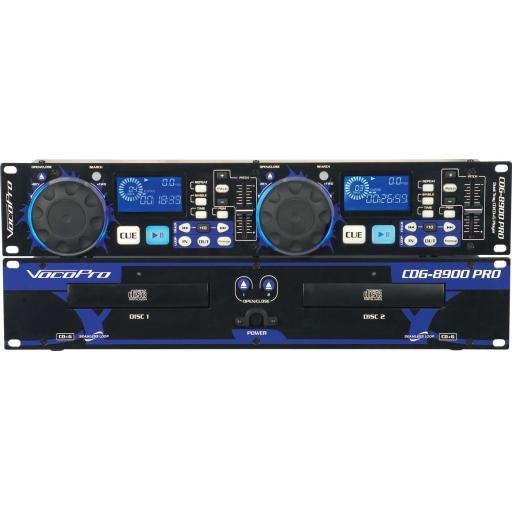 vocopro 8900 PRO Professional Dual Tray CD/CD+G Player CDG-8900 PRO Professional Dual Tray CD/CD+G Player