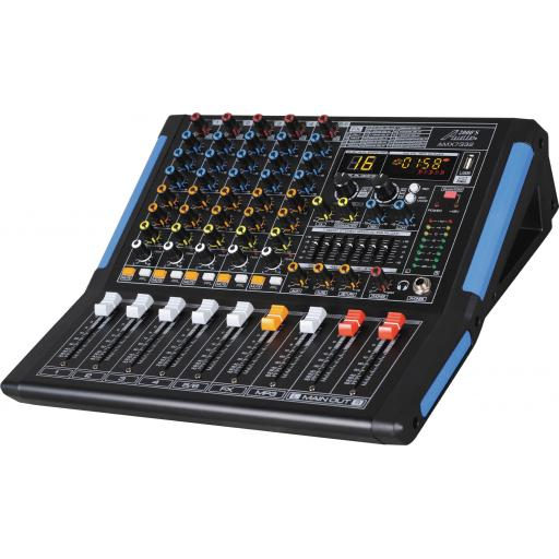 Audio2000s AMX7332- Professional Six-Channel Audio Mixer with USB Interface and DSP Sound Effects