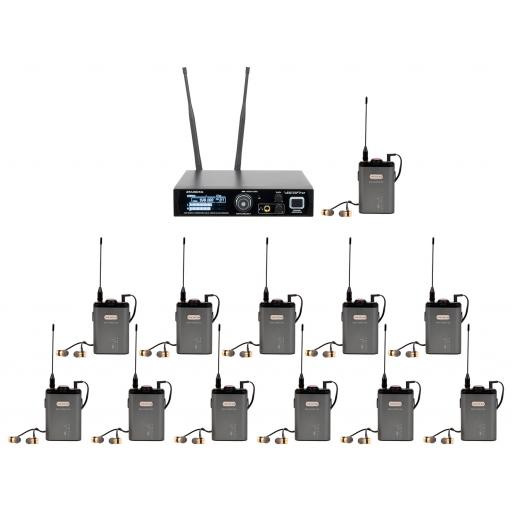 Vocopro IEM-Assist-8 Short, Professional 24-bit Digital Stereo wireless Assist Listening System