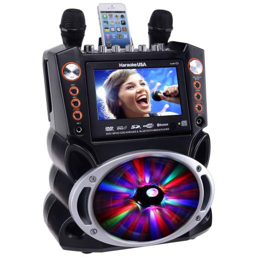"Karaoke USA GF846 DVD/CDG/MP3G Karaoke System with 7"" TFT Colour Screen, Record Bluetooth 300 SONGS"