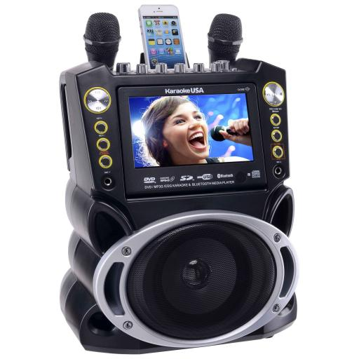 "Karaoke GF844 DVD/CDG/MP3G Karaoke System with 7"" TFT Colour Screen, Record Bluetooth 300 SONGS"