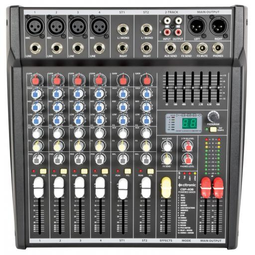Citronic CSP Series Compact Powered Mixers with DSP