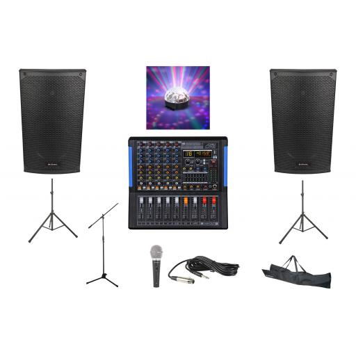 SYSTEM 6, 1400 WATTS HIGH GRADE PROFESSIONAL KARAOKE & PA PACKAGE.