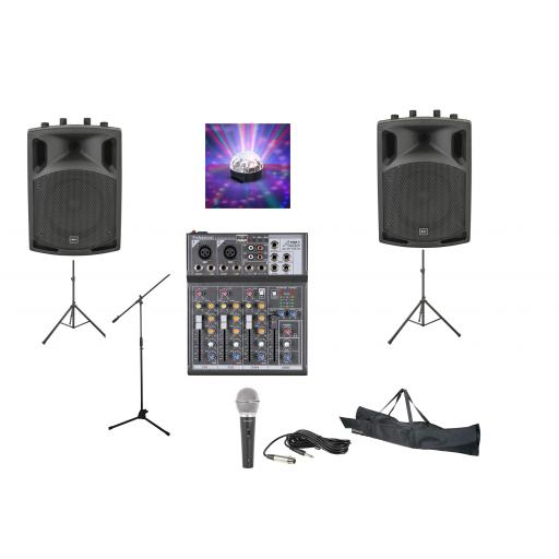 SYSTEM 3, 300 WATTS PROFESSIONAL KARAOKE & PA PACKAGE.