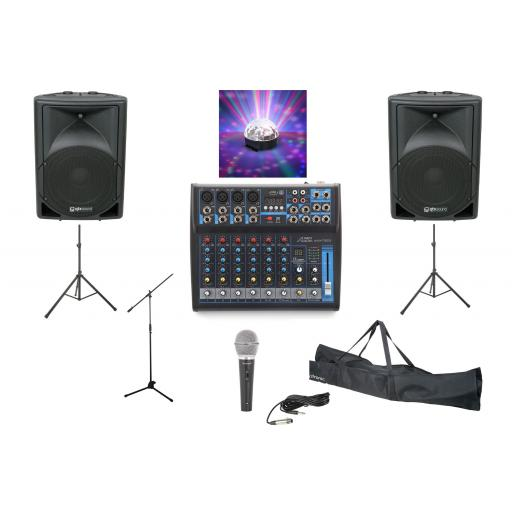 SYSTEM 4, 500 WATTS PROFESSIONAL KARAOKE & PA PACKAGE.