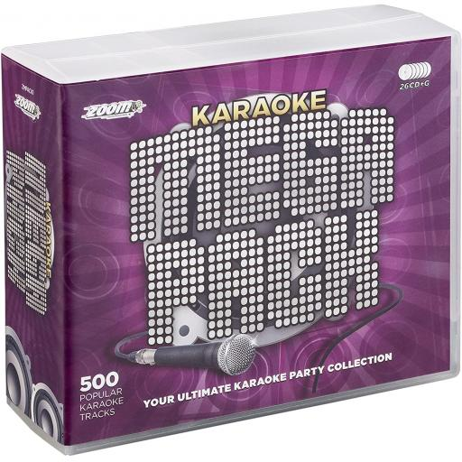 KARAOKE CD+G MEGAPACK 500 SONGS + USB TRACK PACK & A-Z TRACK LISTS, 500 TOP HITS
