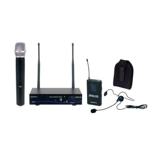Vocopro DIGITAL-31-ULTRA All Inclusive Single channel digital wireless handheld/headset/instrument system