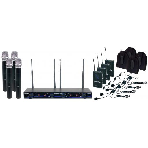 Vocopro DIGITAL-34-ULTRA All Inclusive Four channel digital wireless handheld/headset/instrument system