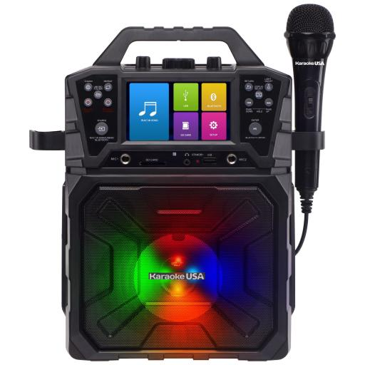 "KARAOKE USA SD 520 Portable MP3G Karaoke and PA System with 4.3"" TFT Digital Color Screen and Record Function"